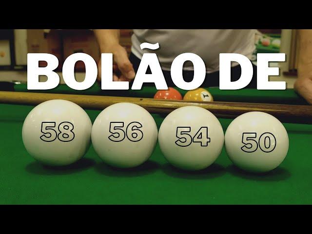 A diferença das tacadas com BOLÃO de 58, 56, 54 e 50 mm