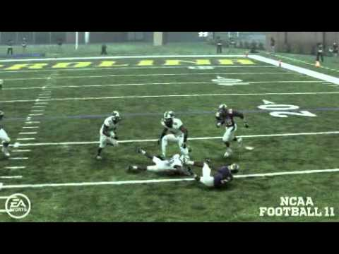 ECU Game   Kevin Perry forced fumble on big hit