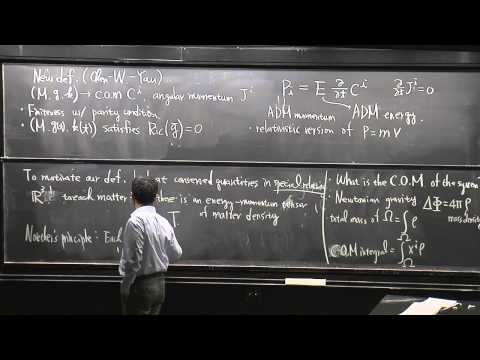 Mu-Tao Wang: Energy, momentum and center of mass in GR