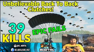 Mortal's Unbelievable Back To Back Squad Clutches | Thanos Mode 3.0 Enabled | 39 Kills | MortaL