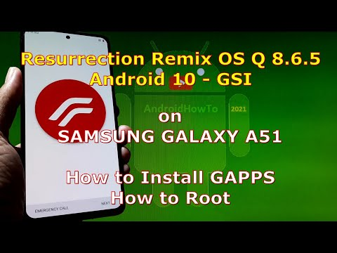 Resurrection Remix OS Q 8.6.5 Android 10 for Samsung Galaxy A51 Dynamic Partition