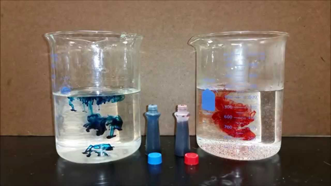 Food Coloring Hot And Cold Water Youtube