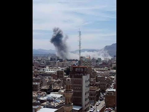 "US Backed Saudi Led ""Double Tap"" Hit's Yemen's Presidential Palace & Scores Of Civilians; VIDEO INS"