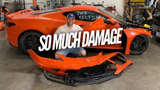 How Bad is the Damage on the Wrecked C8 Corvette? I think it can be fixed easily