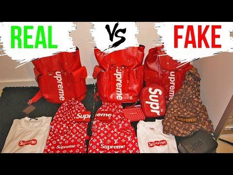 cumpărători de vânzări priză pantofi eleganti REAL VS FAKE - Louis Vuitton x Supreme LEGIT CHECK + COMPARISON Authentic  vs 1:1 Replica - YouTube