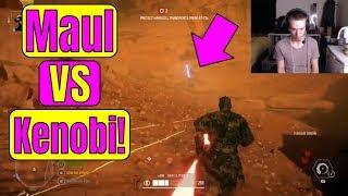 OBI WAN VS DARTH MAUL in BATTLEFRONT 2! *EPIC* Star Wars Battlefront 2 Geonosis DLC