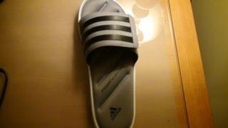 violento Mamá irregular  Adidas Zeitfrei Fitfoam Slides Black/Grey/White - YouTube