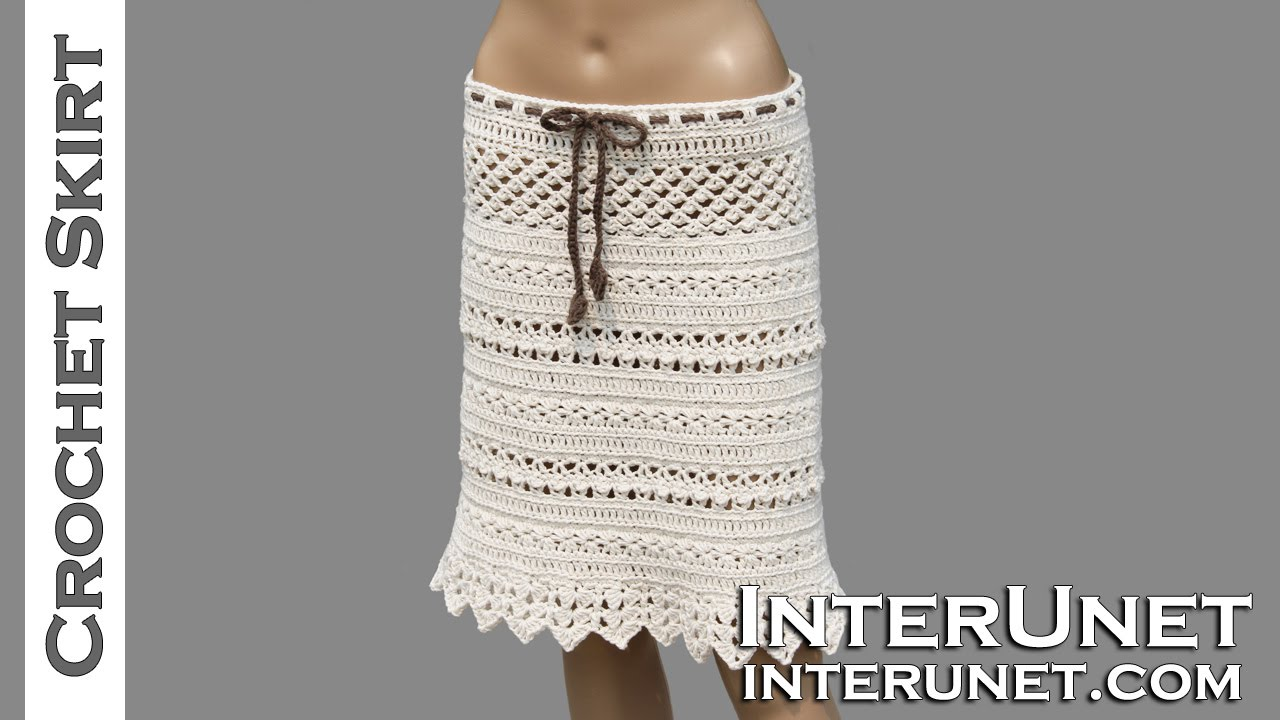 Lace skirt crochet pattern - YouTube