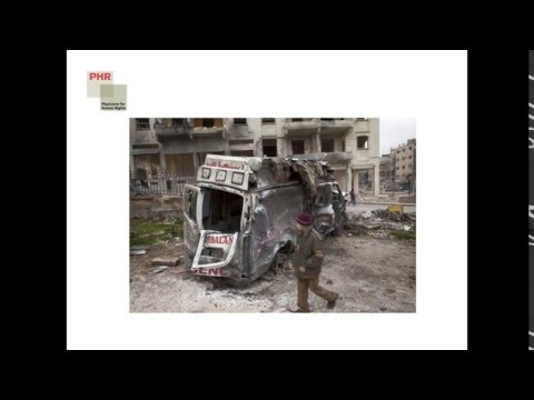 Webinar: Documenting Attacks on Health Care in Syria