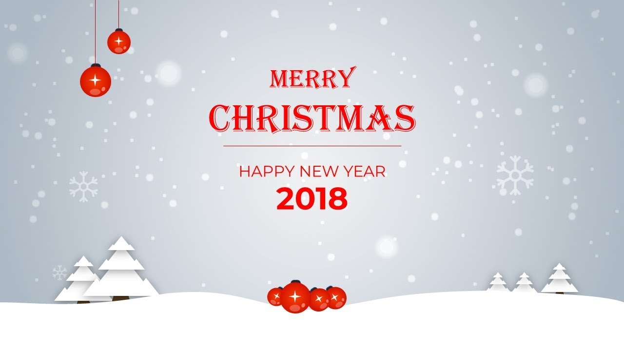 How To Create Merry Christmas and Happy New Year 2018 Post Card in ...