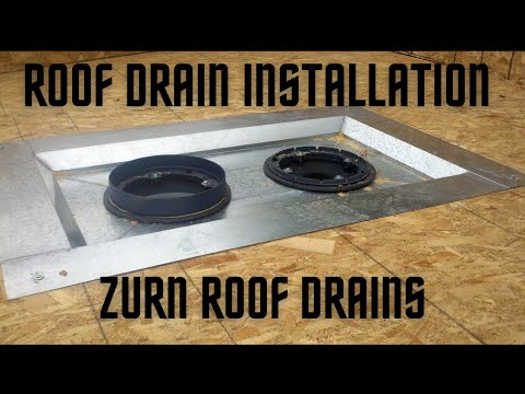 3 Flat Roof Drain Installation How To Sump Zurn Z100