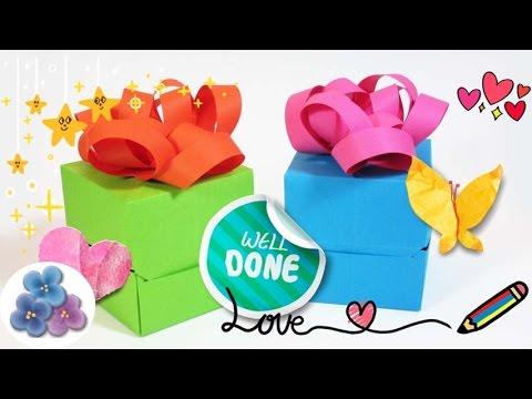Origami cajas de papel para regalo cumplea os o navidad - Papel de regalo transparente ...