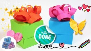 Origami: Cajas de Papel para Regalo  Cumpleaños o Navidad DIY Pintura Facil