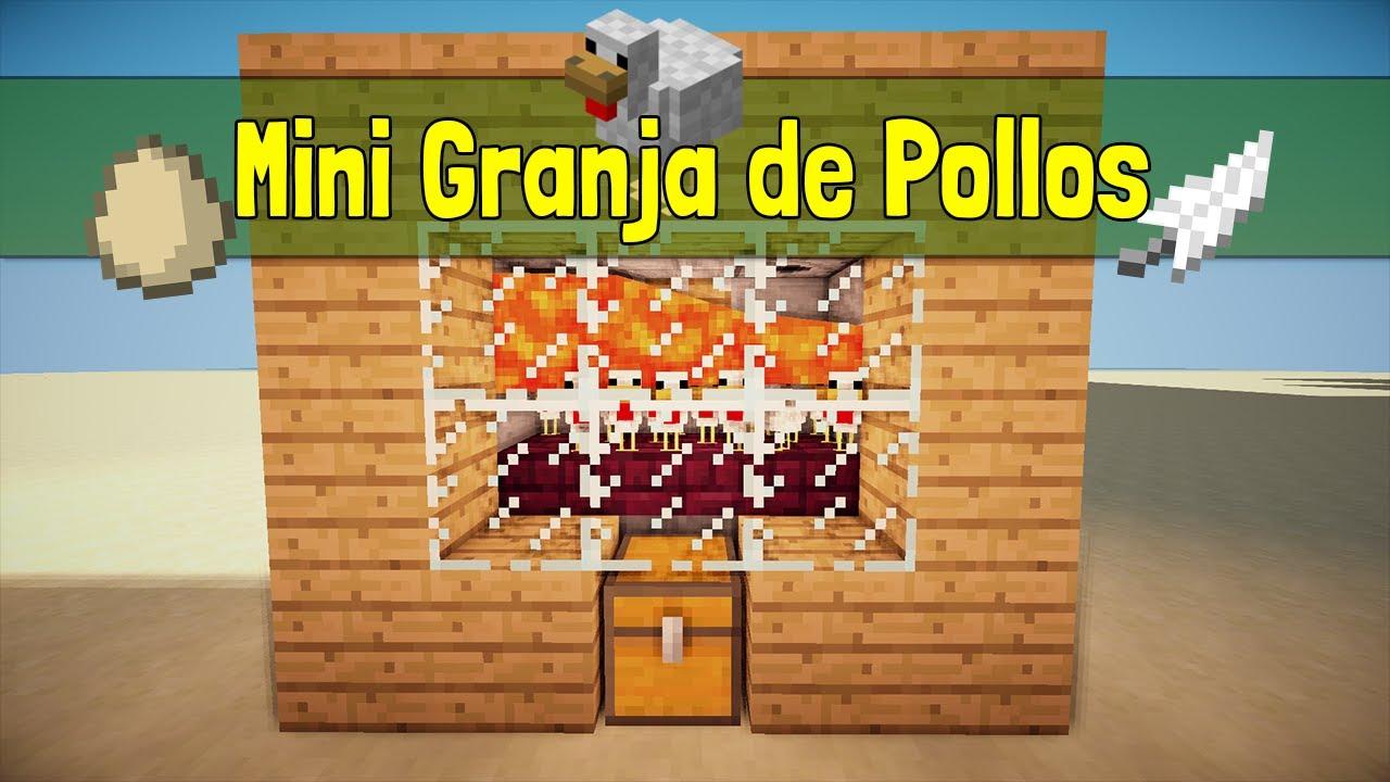 minecraft mini tutorial c mo hacer una granja de pollos