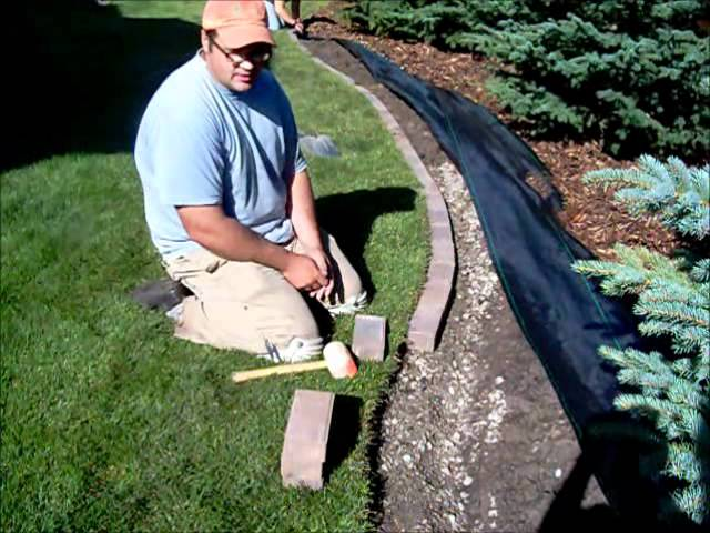 How To Install A Paving Stone Border Youtube