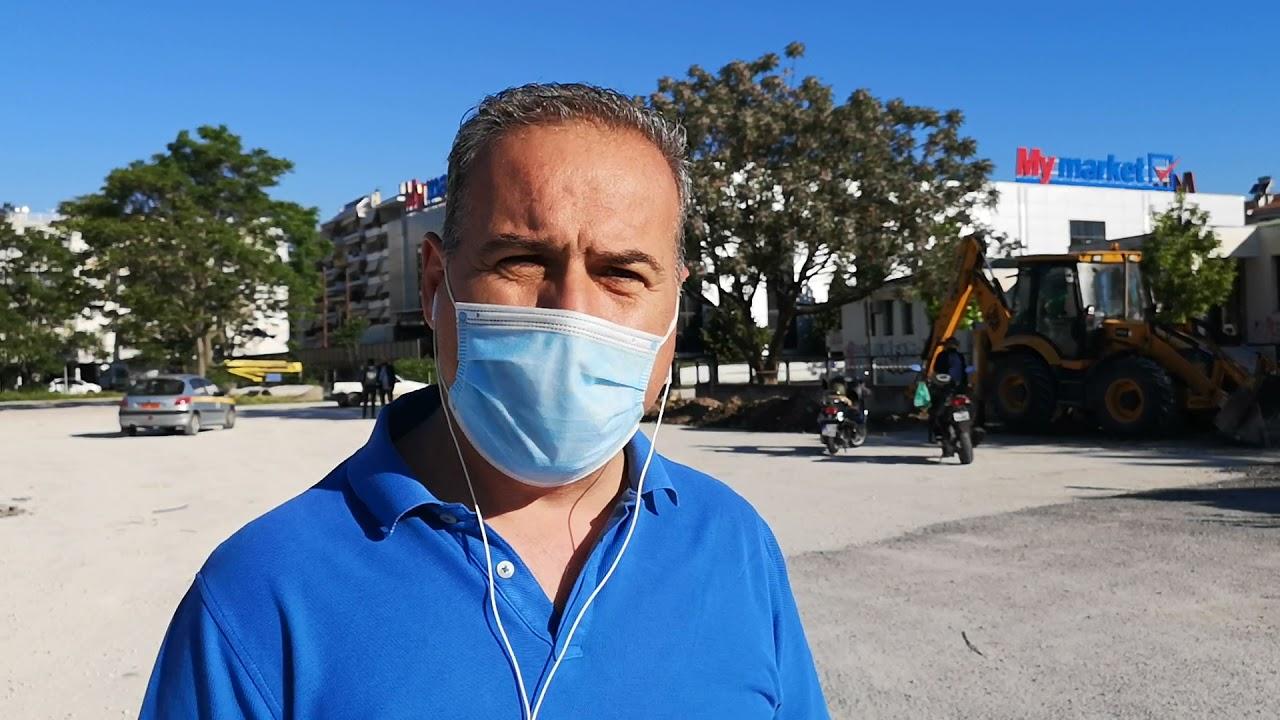 Τρίκαλα: Έπιασε δουλειά η μπουλντόζα στο πάρκινγκ της ΔΕΗ (βίντεο) - Trikala  Focus
