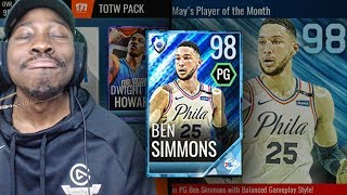 98 OVR PLATINUM BEN SIMMONS POTM & TOTW PACK OPENING! NBA Live Mobile 18 Gameplay Ep. 50