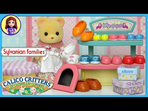 Sylvanian Families Calico Critters Village Shoe Store Set Unboxing Review and Play - Kids Toys