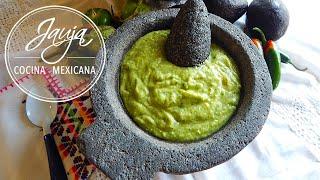 Salsa Verde de Aguacate y Tomatillo: Salsa de Taqueria