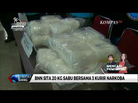 BNN Sita 20 Kg Sabu Jaringan Malaysia-Indonesia