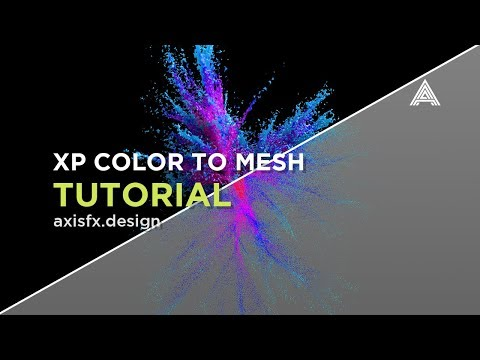 Cinema 4D - Transfer X-Particles Color to a Mesh Tutorial