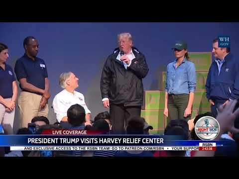 FULL SPEECH: PRESIDENT DONALD TRUMP Visits Hurricane Harvey Relief Center 9/2/17