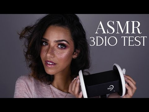 ASMR 3DIO TEST (Ear brushing, Ear tapping, Finger Flutter, Ear cupping, Ear touching..)| ASMR Glow