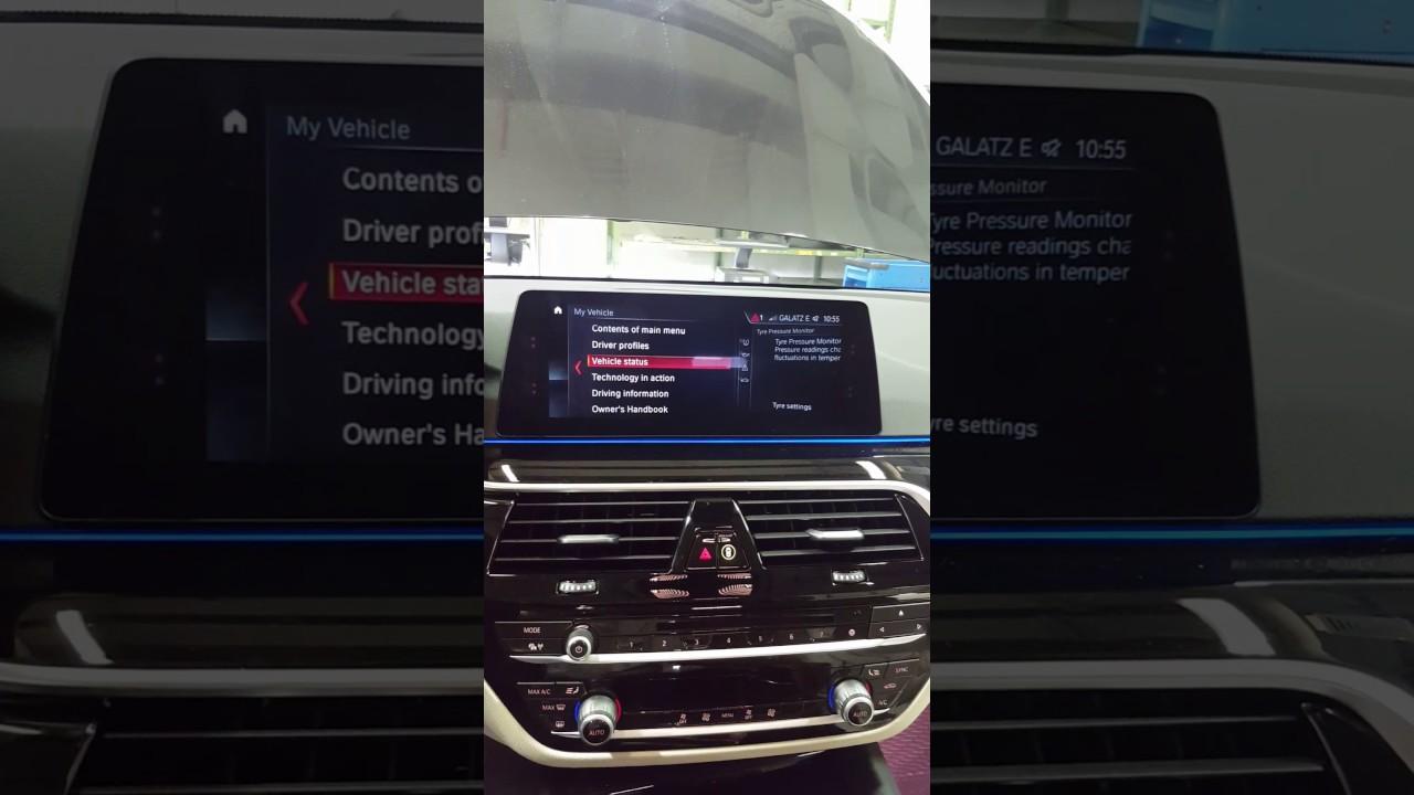 Reset Tyre Pressure G30 Bmw Youtube