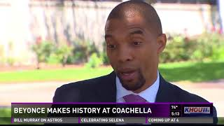 Beyonce's performance at Coachella, with marching bands and Greek s...
