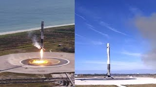 SpaceX CRS-13: Falcon 9 first stage landing, 15 December 2017