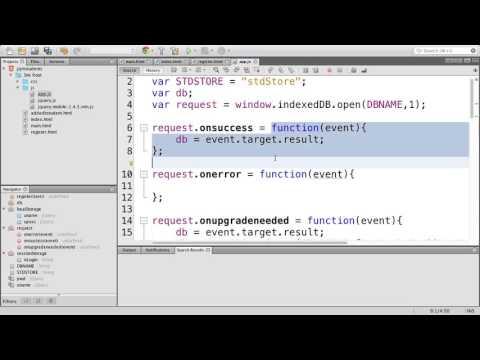 IndexedDB with JQueryMobile - Part 1
