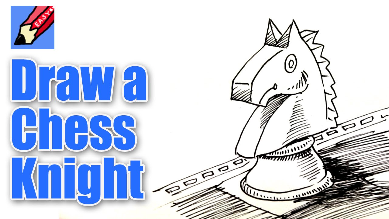 How To Draw A Chess Knight Or Horse Real Easy
