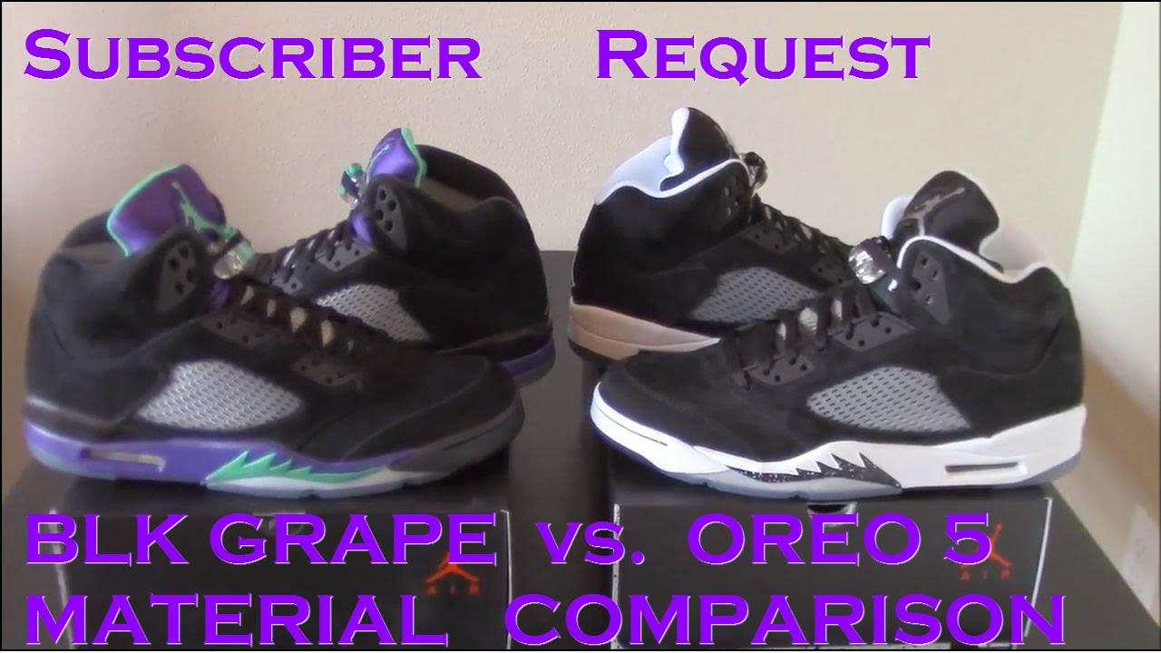 ... new zealand subscriber request material comparison jordan 5 oreo vs. black  grape youtube 452dd ccc34 197dc2dfb0