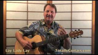 Bob Dylan - Lay Lady Lay Acoustic Guitar lesson