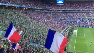 Incredible Irish fans drown out stadium with Fields of Athenry at Ireland v France, Lyon, Euros 2016