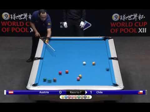 WORLD CUP OF POOL - CHILE vs AUSTRIA / POLONIA vs KUWAIT