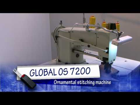 GLOBAL OS7200 - Ornamental stitching sewing machine for the shoe industry