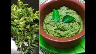கறிவேப்பிலை சட்னி இப்படி செய்யுங்க மிகசுவையாக இருக்கும்/ curry leaves chutney/chutney recipe