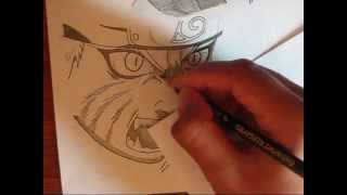 Drawing Naruto Uzumaki Nine-Tails stage 2