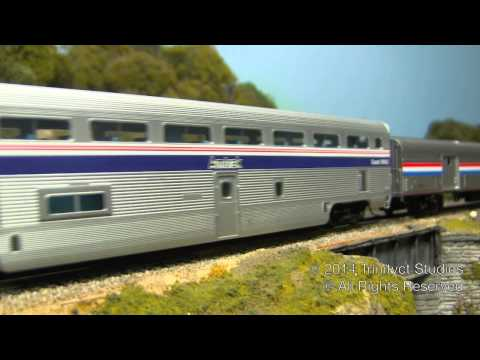 Florida Fun Train F40PH On My Clubs HO Scale Amtrak Superliner Set