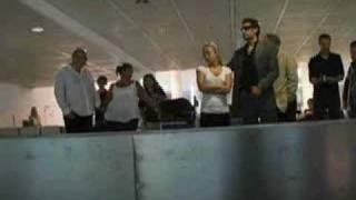 Hayden à l'aéroport de Munich
