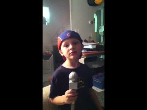 Aidan singing Grenade by Bruno Mars
