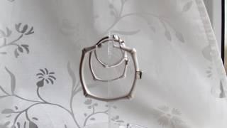 комплект из матового серебра