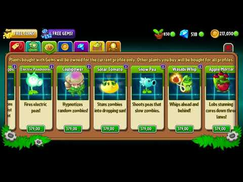 Plants Vs. Zombies 2: It's About Time (Sap-fling, Lava Guava, Hurrikale, Shrinking Violet)