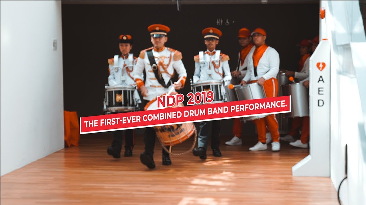 NDP 2019 Combined Drum Band Performance