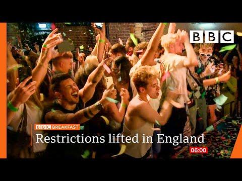 19 July: England Covid restrictions ease as Boris urges caution @BBC News live 🔴 BBC