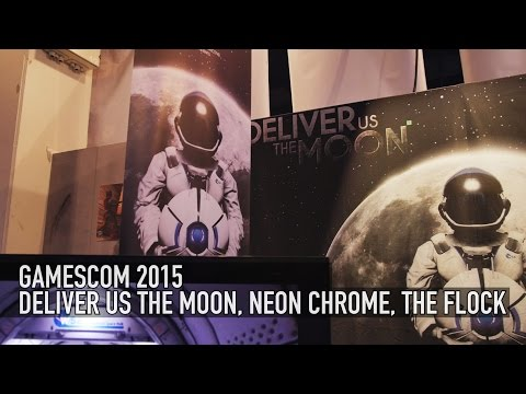 Deliver Us The Moon, Neon Chrome, & The Flock - Gamescom 2015 |