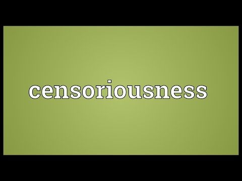 Header of censoriousness