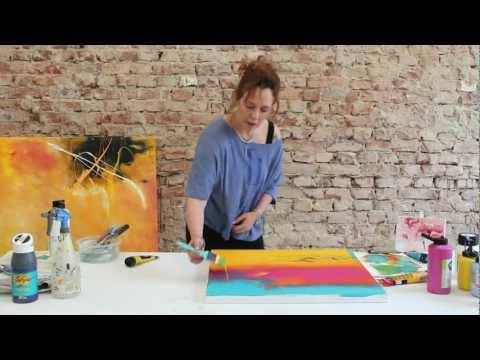 Kleines Übungs-Tutorial: Einfache Farbverläufe in Acryl mit dem neuen Pinsel ;) by zAcheR-fineT