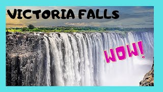 ZAMBIA: VICTORIA FALLS, world's most MAGNIFICENT NATURAL WONDER, AFRICA thumbnail
